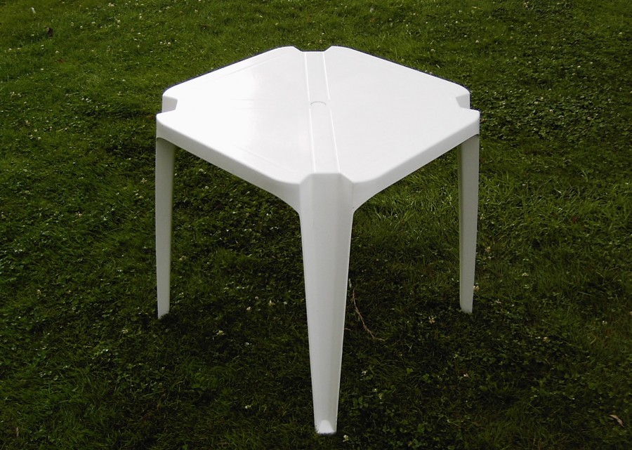 Vierkante terrastafel 80 x 80 cm